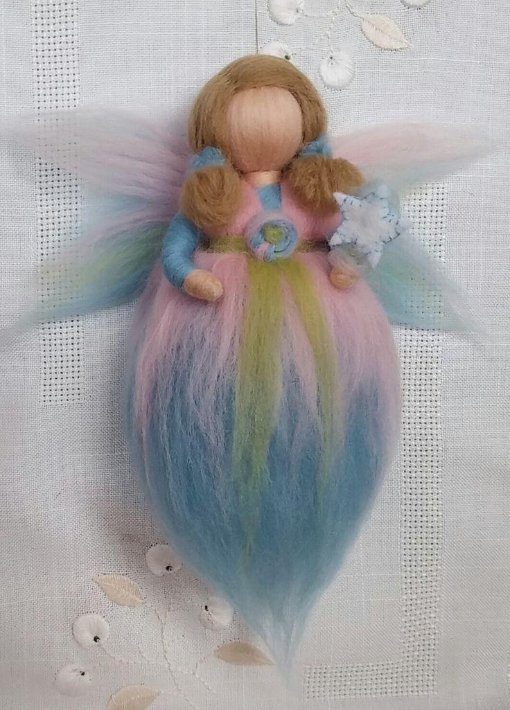 Wool Fairy, So sweet!, Waldorf inspired, Newborn room, Handmade, Ecofriendly