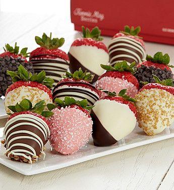One Dozen Love & Romance Chocolate Dipped Strawberries
