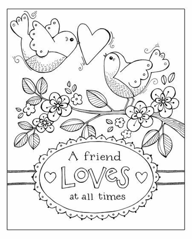 313 best hand embroidery birds images pinterest, friend loves all times coloring page