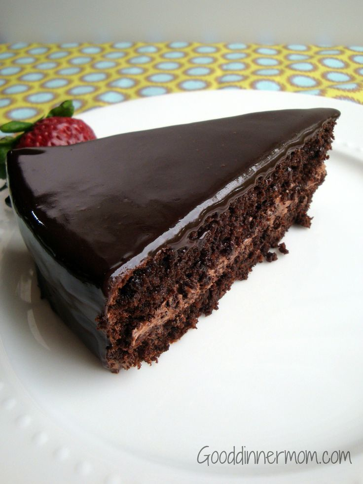 Super decadent chocolate cake (made with quinoa so it is gluten-free) - Sally says it's the best chocolate cake she's ever had. I'm so trying this!