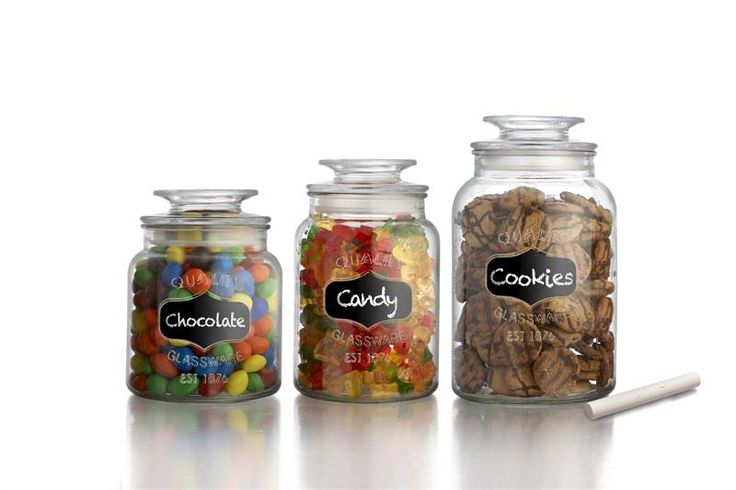 Decoration of Glass Kitchen Canisters and Jars   Better Home Ideas
