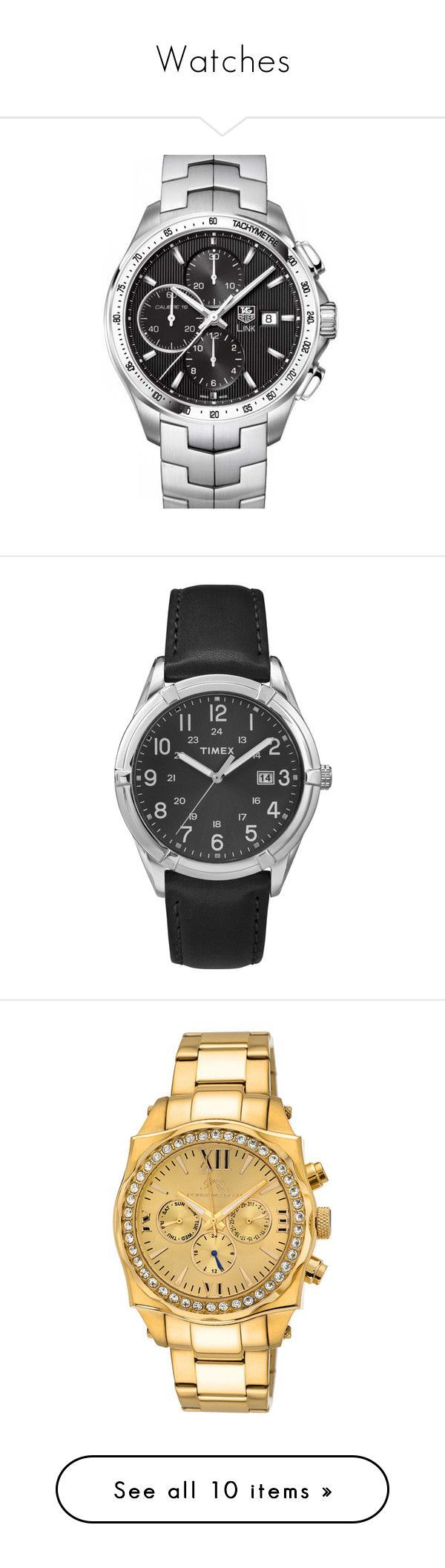 """Watches"" by richard-cmi ❤ liked on Polyvore featuring men's fashion, men's jewelry, men's watches, watches, men, jewelry, accessories, guys, mens watches and tag heuer mens watches - where to buy mens jewelry, real mens jewelry, mens designer jewelry brands"