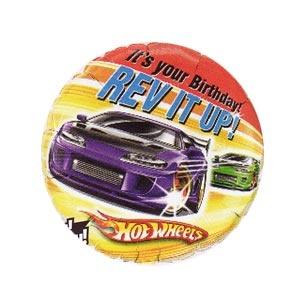 "Hot Wheels 18"" Birthday Mylar Balloon. Empty."