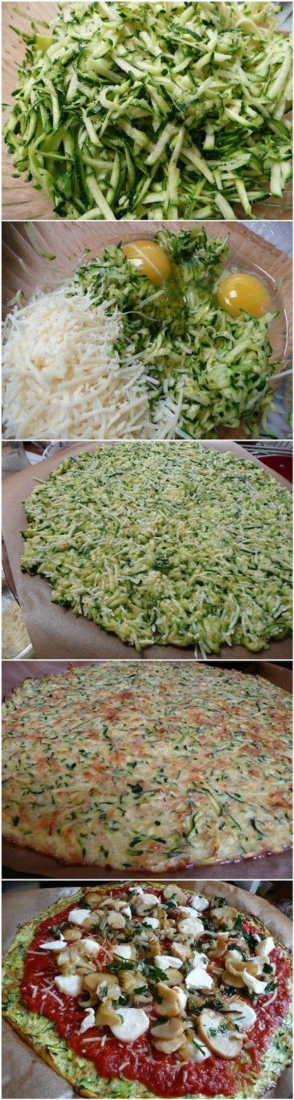 Pizzaboden aus Zucchini kohlenhydratfrei