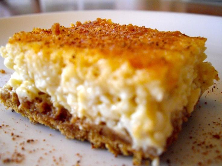 Eggnog Cheesecake bars | Food | Pinterest