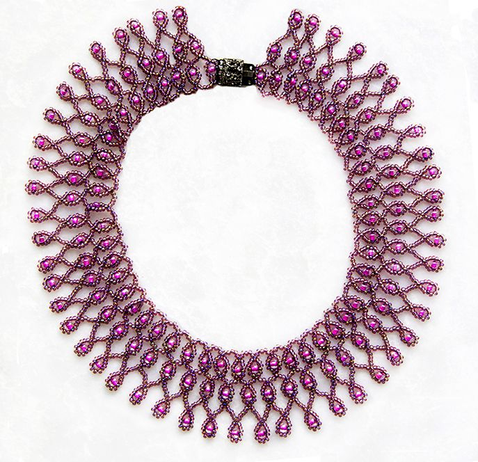 Free pattern for necklace Violet Morning