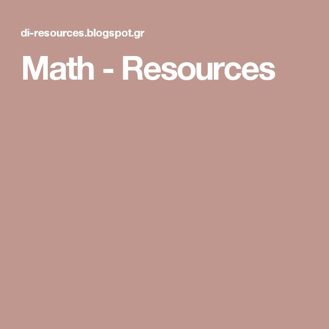 Math - Resources