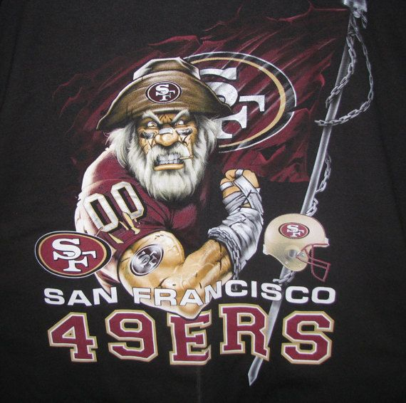 SF 49er TShirt Vintage Art & collectible nfl by shoponwebstreet