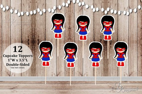 12 Spidergirl Toppers Inspired Spiderman Girl by BekazKreations