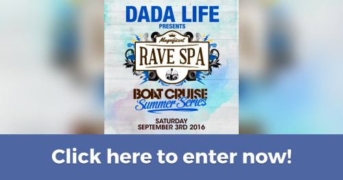 Dada Life Magnificent Rave Spa Giveaway! (9/2/2016) {US} via... sweepstakes IFTTT reddit giveaways freebies contests