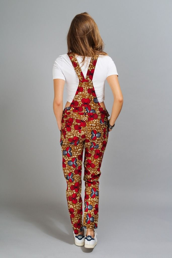 Salopette pantalon  en wax