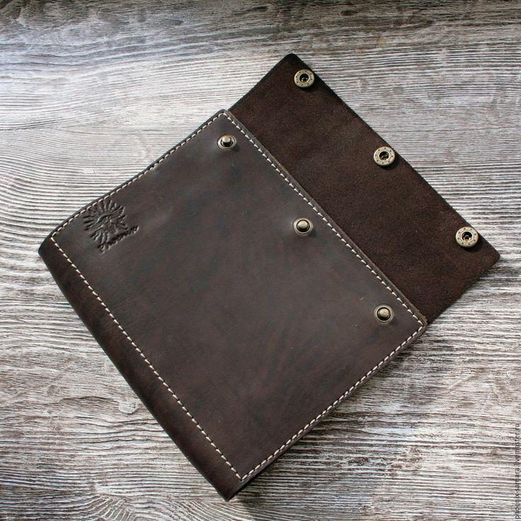 Купить Ежедневник на кольцах из натуральной кожи А5 - коричневый, ежедневник ручной работы, ежедневник из кожи