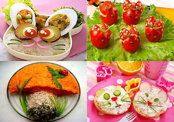 Рецепты рыбных блюд.  Рецепты салатов. салат на праздничный детский стол.