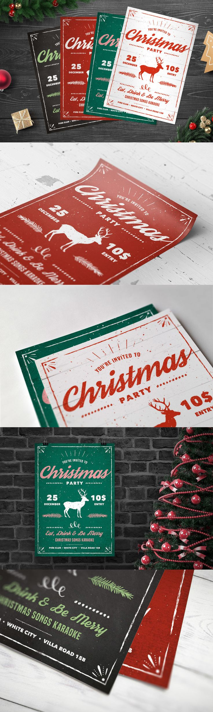 best images about christmas flyer templates vintage christmas party flyer template psd xmas design