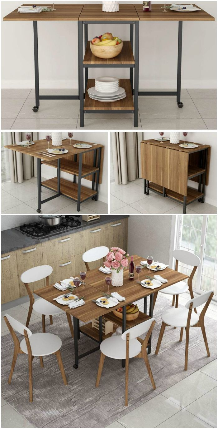 These 12 Dining Tables Are Excellent Solutions For Small Spaces Kitchen Table Small Space Small Kitchen Tables Dining Table Small Space