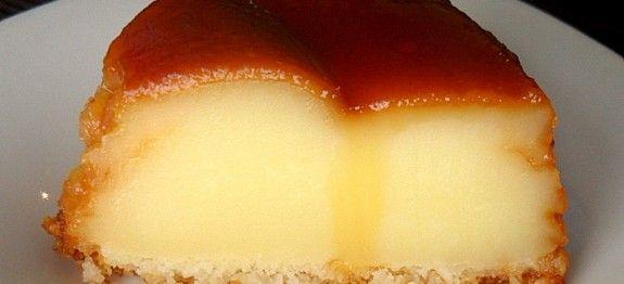 1/2 litro de leite         2 xícaras (chá) de açúcar         4 ovos         1 xícara (chá) rasa de farinha de trigo         50g de coco ralado         50g de queijo parmesão ralado      Calda         8 colheres (sopa) de açúcar  SAM_1330