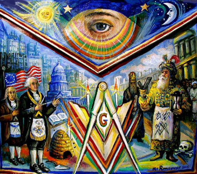 12 best ari roussimoff masonic freemasonry paintings