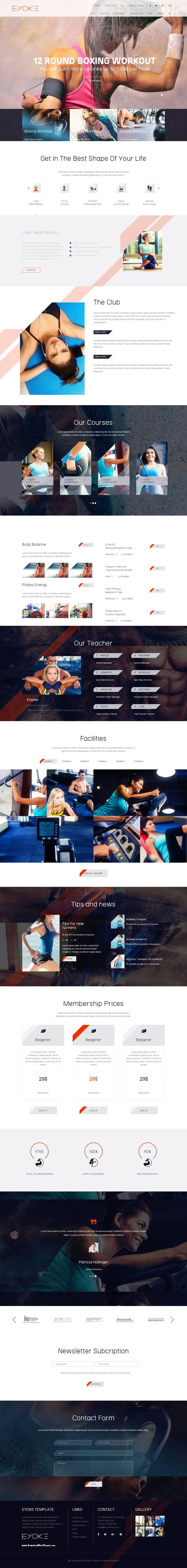 Eyoke is a nice and creative template for Gym or Fitness website. #HTMLtheme #responsivedesign