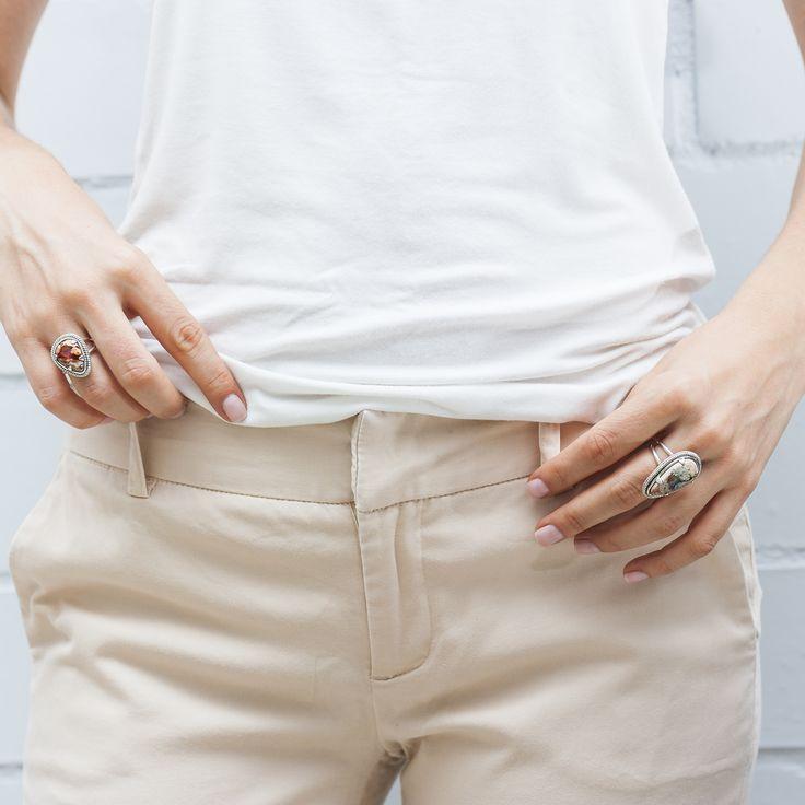 opal rings by Angelica Hernandez
