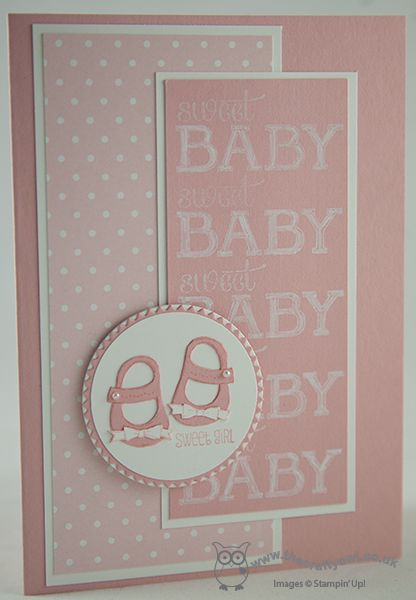 The Crafty Owl's Blog | Monochrome Baby Girl Card for The Pals Paper Arts 200th Anniversary