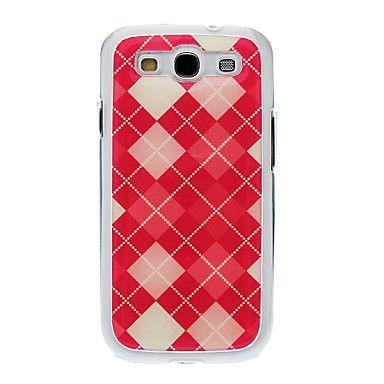Disegno del modello Neutral gel di silicone Custodia Rosso Griglia Stiffiness indietro per Samsung Galaxy S3 I9300 – EUR € 4.79