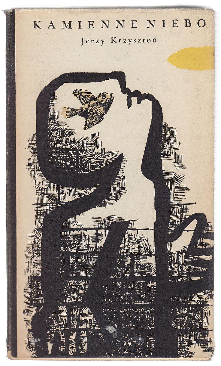 'Kamienne niebo', Warszawa 1958, cover by Jan Młodożeniec.