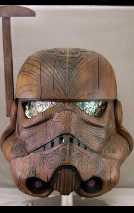 Maori art inspired stormtrooper helmet - Imgur