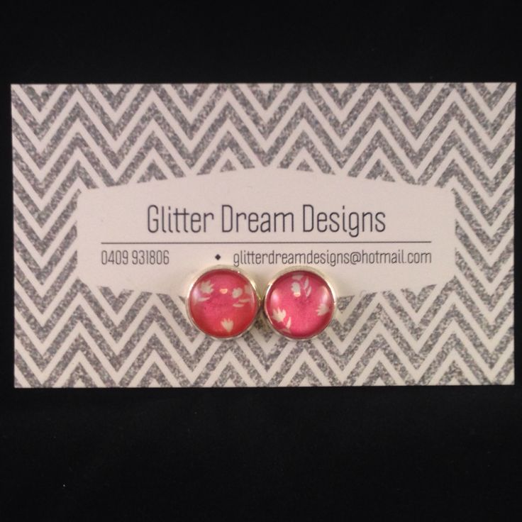 Order Code A15 Pink Cabochon Earrings