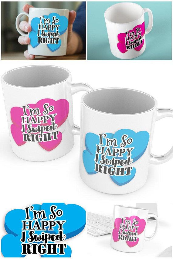 Couples Swiped Right Tinder Mugs #Funny #CouplesMugs #Engagement #MugSet #Couple #Mugs #SwipedRight #HisandHers #CoffeeMug #tinder #giftideas #gifts #swiperight #sunnydazestudio #etsy #etsyuk #etsyseller #etsyukseller #etsygift #handmade #etsyshop