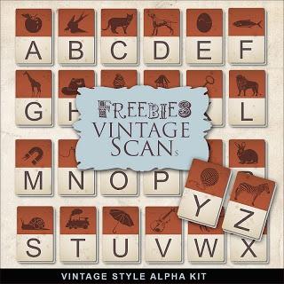 Far Far Hill: Freebies Vintage Style Alphabet Kit