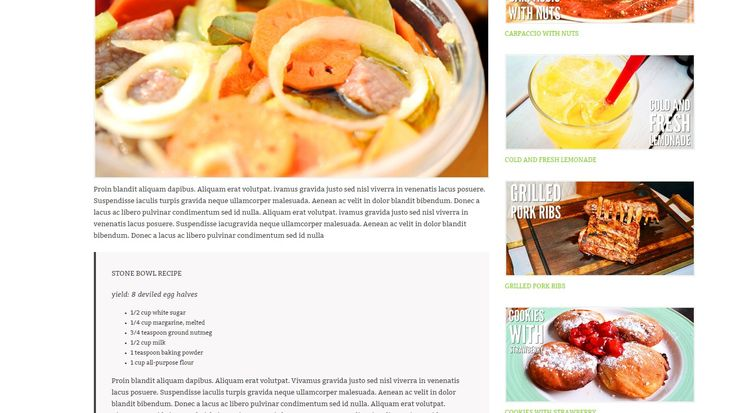 iCook Food & Recipe WP Theme. Food, recipes, cooking, cuisine website or any other related project. Photo gallery with filter. HTML5 & CSS3, javascript