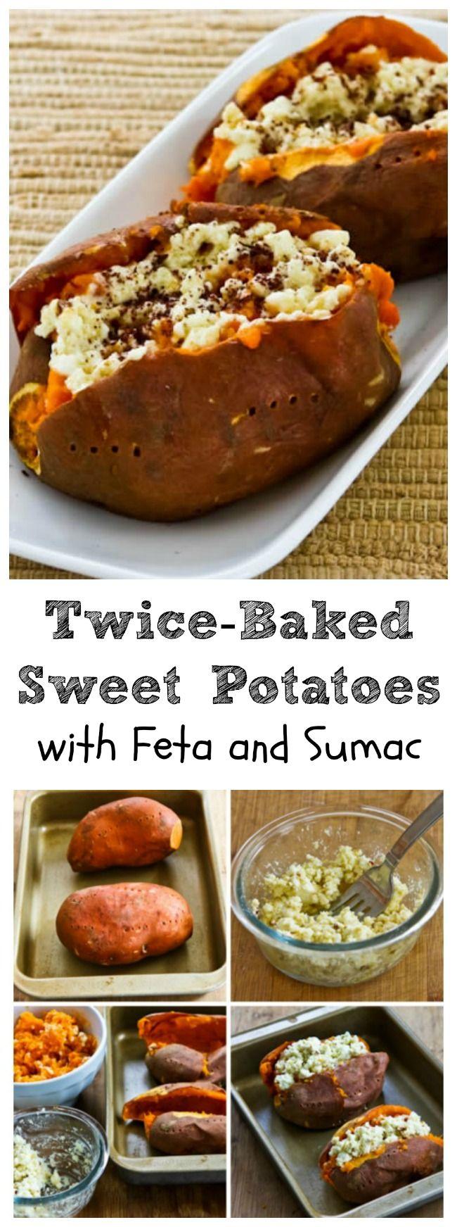 twice baked sweet potatoes with feta and sumac twice baked sweet ...