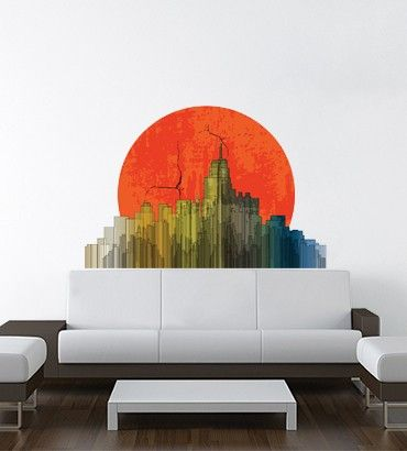 Streetwallz - Sunset Buildings Wall decal, $110.00 (http://www.streetwallz.com/sunset-buildings-wall-decal/)