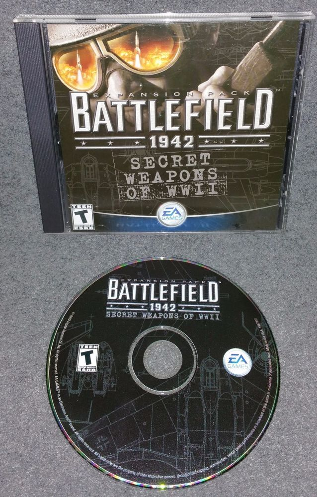 Battlefield 1942: Secret Weapons of WWII Expansion Pack EA 2003 PC CD-ROM War