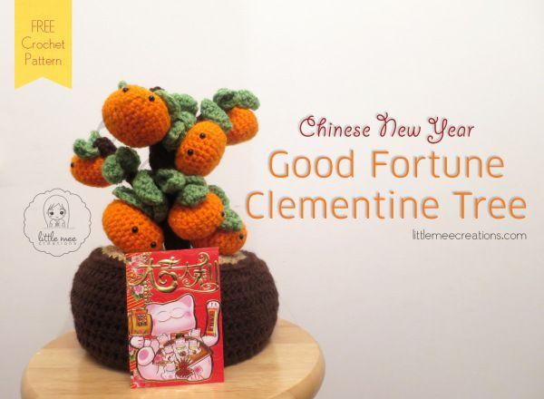 Good Fortune Clementine Tree #crochet by LittleMeeCreations.com