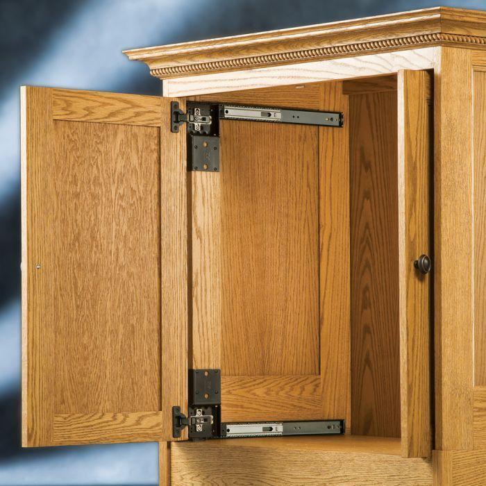 Appliance Cabinet Ez Pocket Door System Pocket Door Slide Rockler Woodworking And Hardware Ban In 2020 Cabinet Door Hardware Pocket Door Hardware Pocket Doors