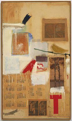 Robert Rauschenberg, Factum II, 1957, MoMA