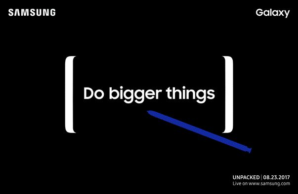Es oficial: Samsung presentará el nuevo Galaxy Note 8 el 23 de agosto   Justo a tiempo para seguir con la agenda de lanzamientos del año. Samsung acaba de enviar las invitaciones para su segundo evento Unpacked en lo que va del año y como muchos ya se habrán imaginado éste será para presentar el nuevo Galaxy Note 8.    La imagen que abre este post deja muy poco a la imaginación vamos qué otra cosa podría presentar Samsung con esa imagen y en esas fechas? El evento se llevará a cabo el…