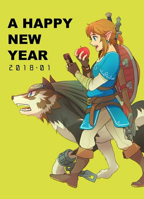 The Legend of Zelda Breath of the Wild Link and Wolf Link New Years