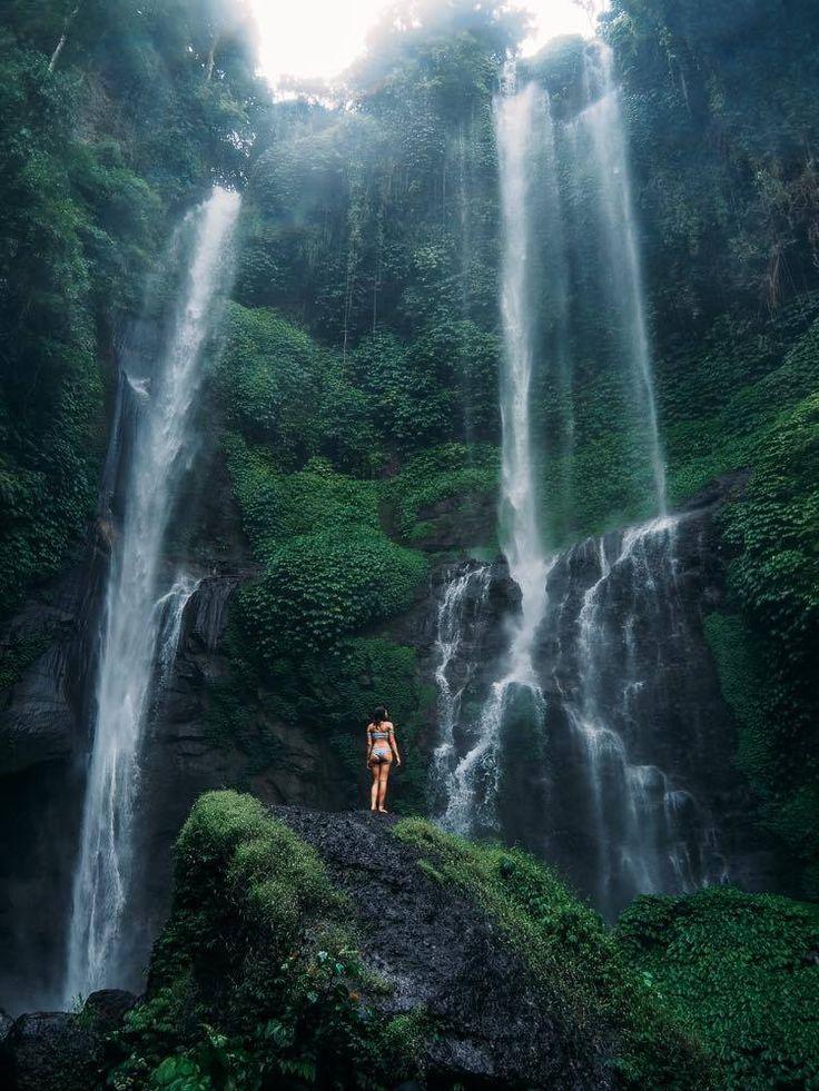 Sekumpul Waterfall in Bali, Indonesia. Instagram small