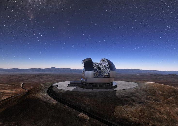 El Viento Sopla Muy Fuerte En Cerro Armazones Una Montana Situada A 3046 Metros De Altitud Desierto Atacama Desde Este Mirador Del Norte