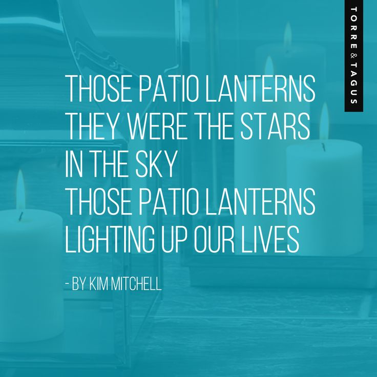 """A great song that fits with a summer Patio theme! Released in June of 1986 (29 years ago!), this iconic song is still a favorite while enjoying moments on the patio under """"Patio Lanterns"""".... www.torretgaus.com #TorreAndTagus #PatioLanterns #KimMitchell"""
