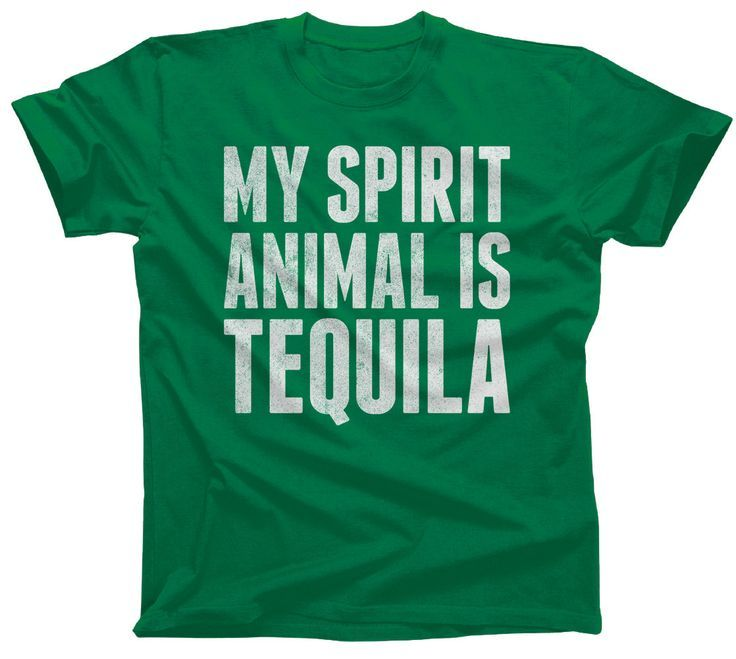 Men's My Spirit Animal is Tequila T-Shirt Cinco De Mayo Drinking