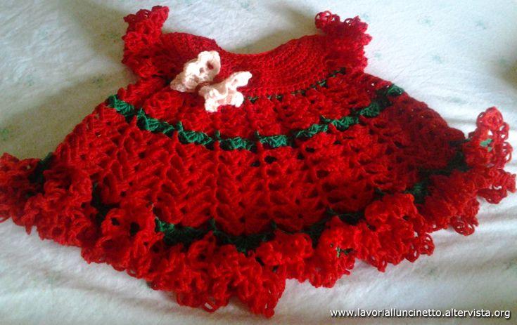 Vestitino Fragolina in lana.