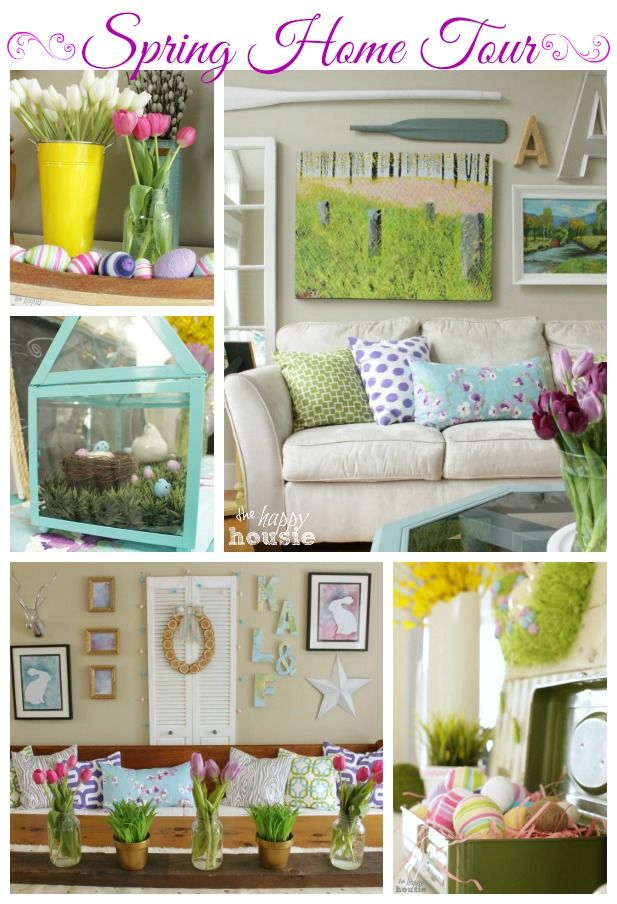 Spring Home Tour Today!! {Spring Parade of Homes} - The Happy Housie