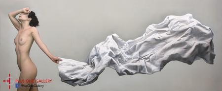 Giving Up, Acrylic on panel,    75 x 185 cm