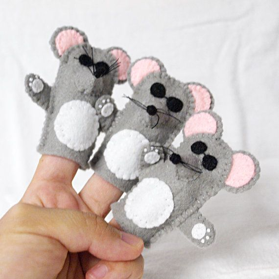 Three Blind Mice finger puppet three blind by KendrickStorytime