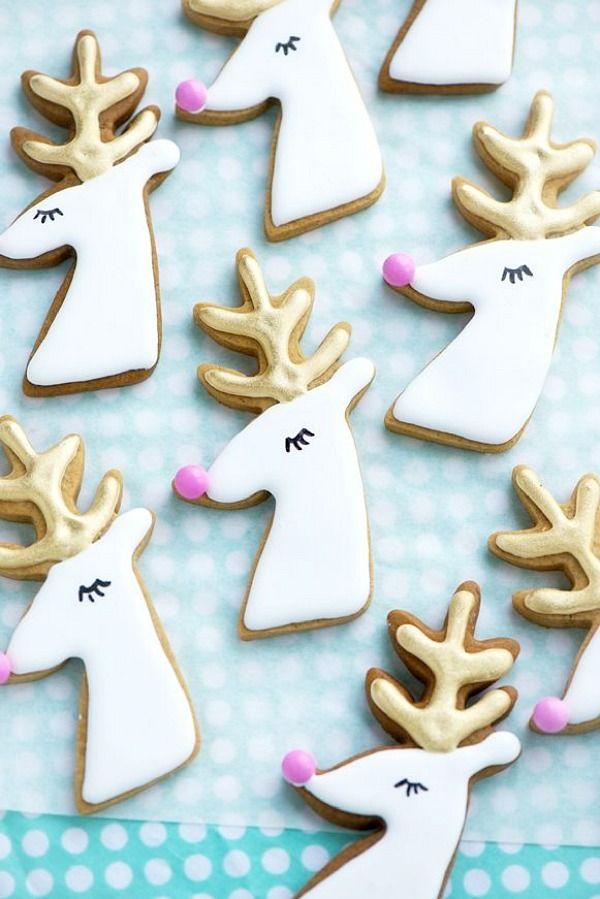 Gilded Reindeer Cookies - Festive Christmas Cookies Recipes