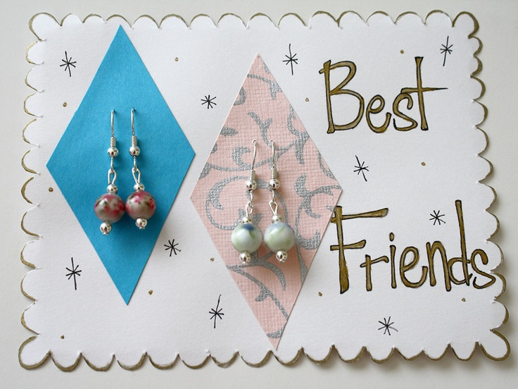 """Best Friends"" Graduating Earring Gift Set by CharmingShop. Limited Edition value set."