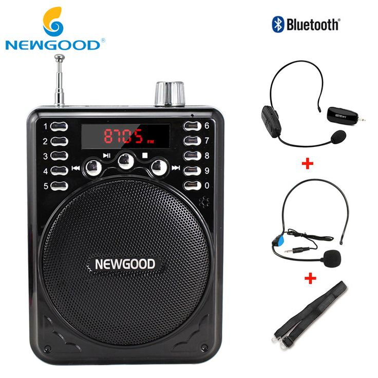 Bluetooth Wireless Voice Amplifier Portable with 2.4G Wireless Microphone Loud Speaker Megaphone Portable Speakers with USB TF //Price: $45.02     #smiles